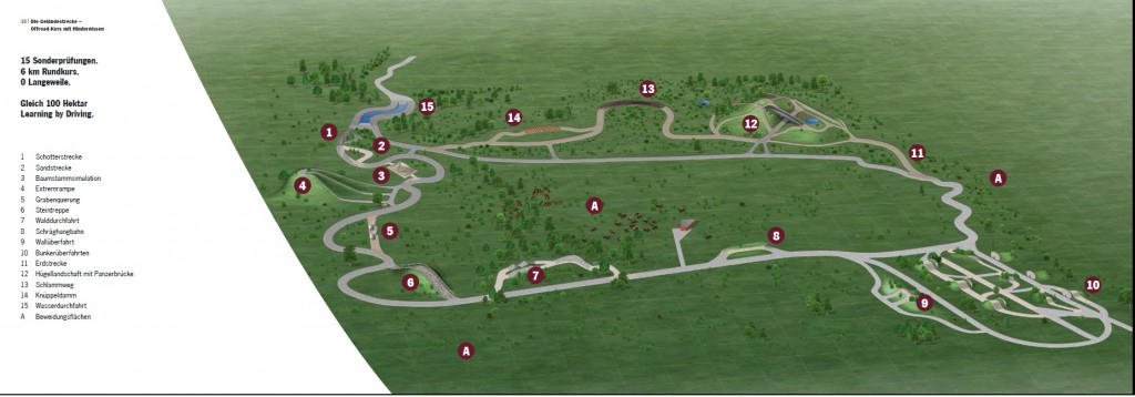 Off-road track with description